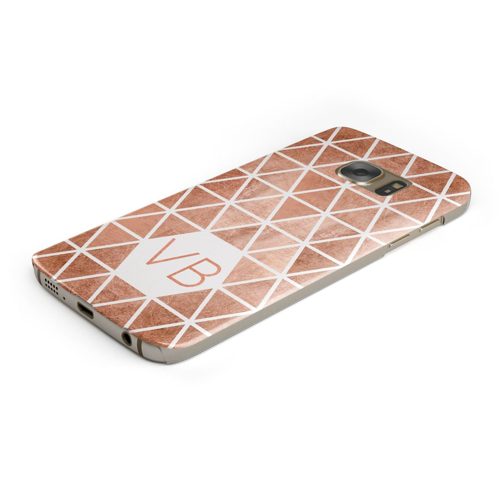 Personalised Copper Initials Samsung Galaxy Case Bottom Cutout