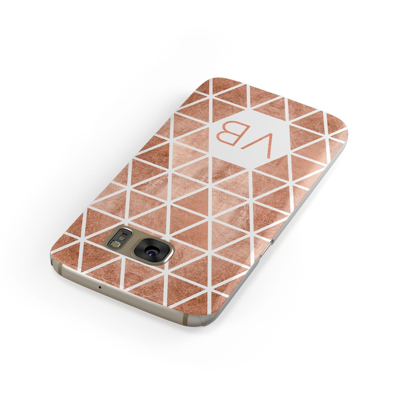 Personalised Copper Initials Samsung Galaxy Case Front Close Up