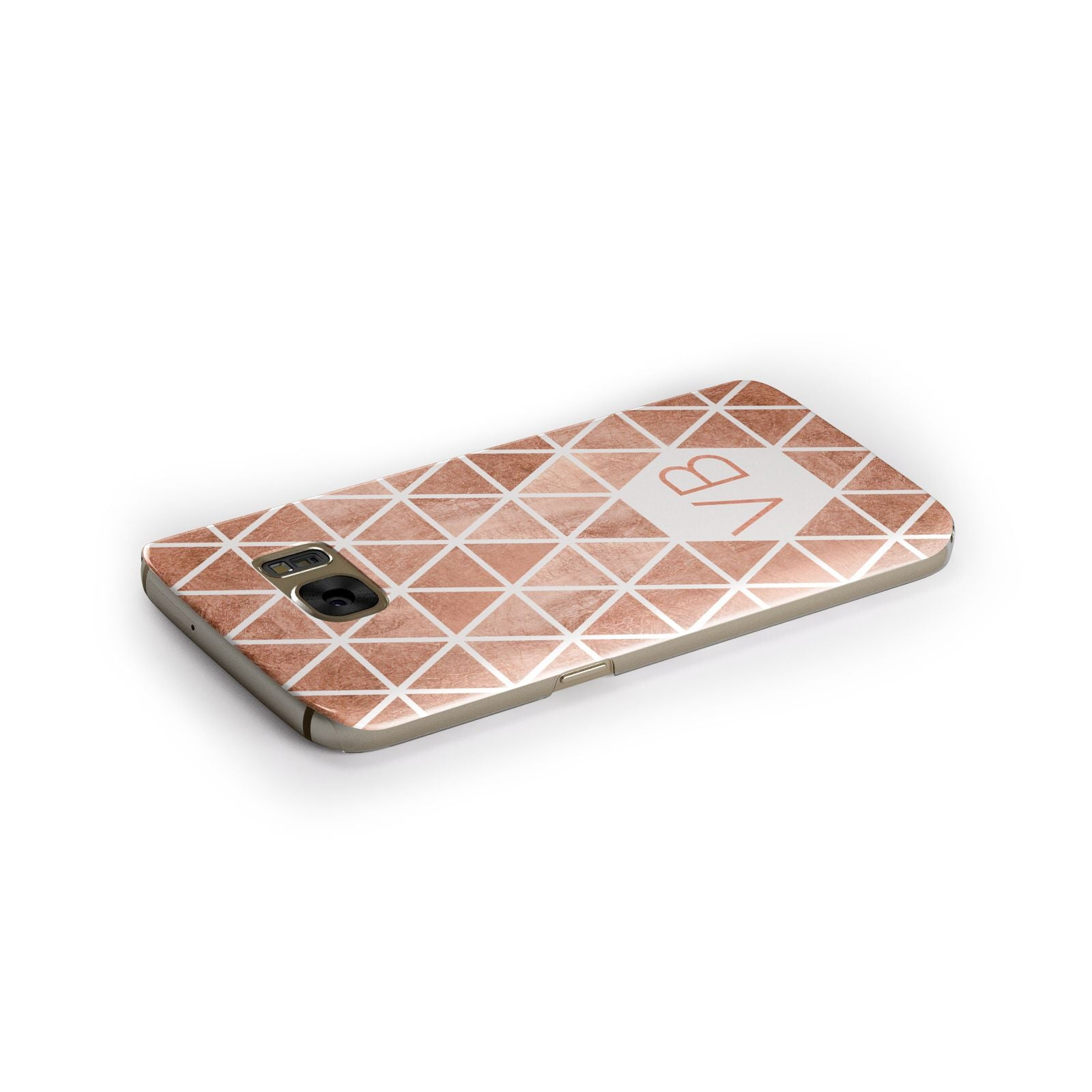 Personalised Copper Initials Samsung Galaxy Case Side Close Up