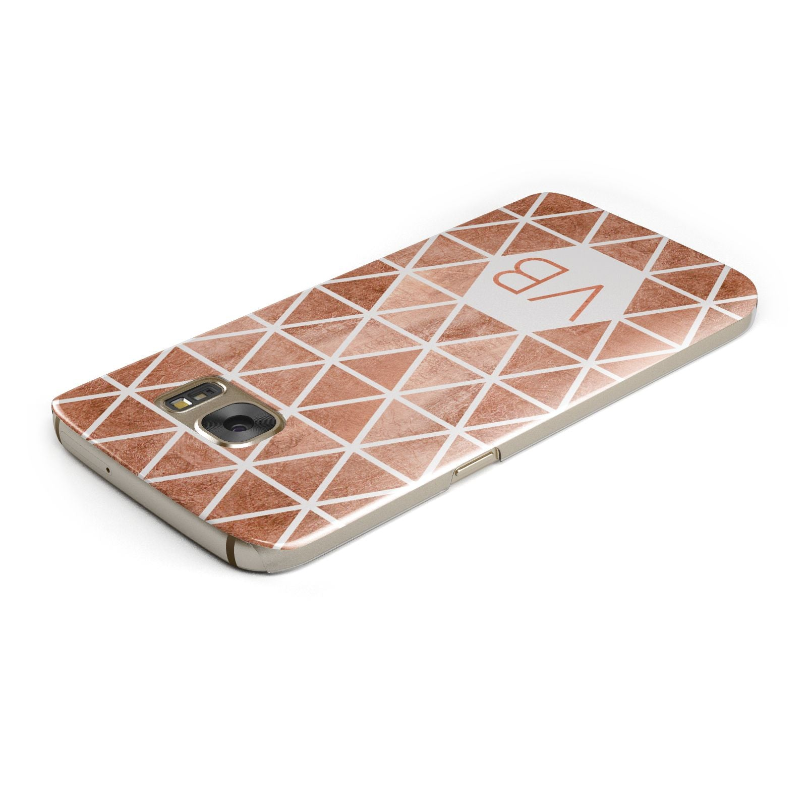 Personalised Copper Initials Samsung Galaxy Case Top Cutout