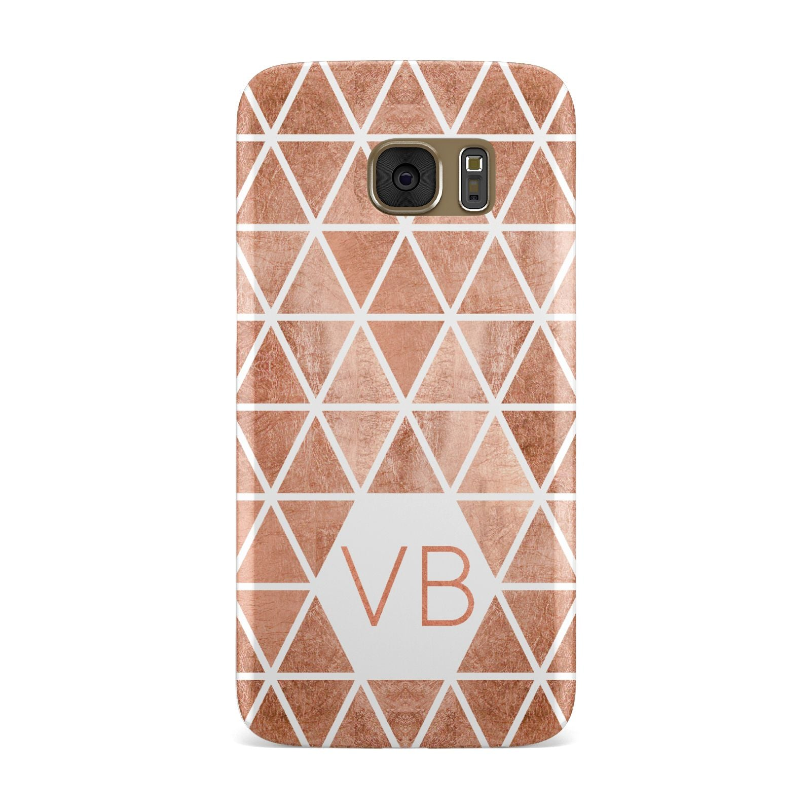 Personalised Copper Initials Samsung Galaxy Case