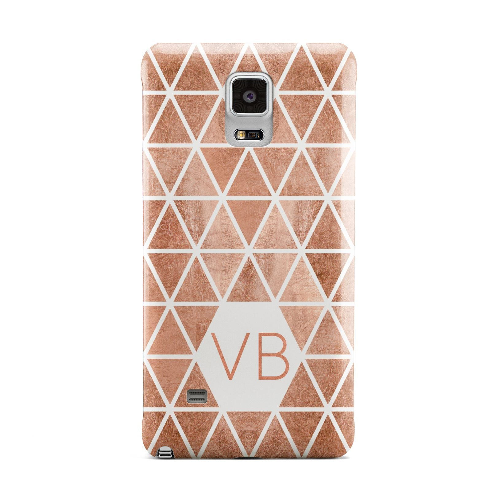 Personalised Copper Initials Samsung Galaxy Note 4 Case