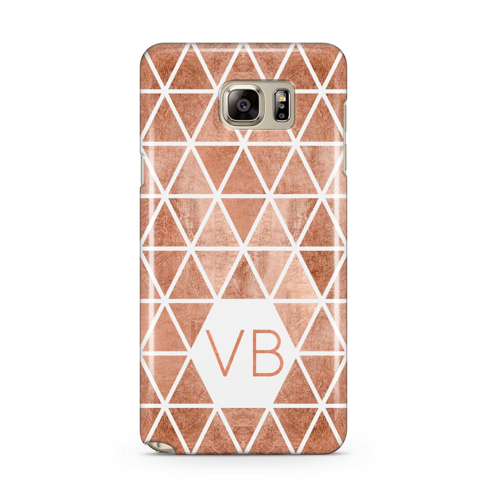 Personalised Copper Initials Samsung Galaxy Note 5 Case