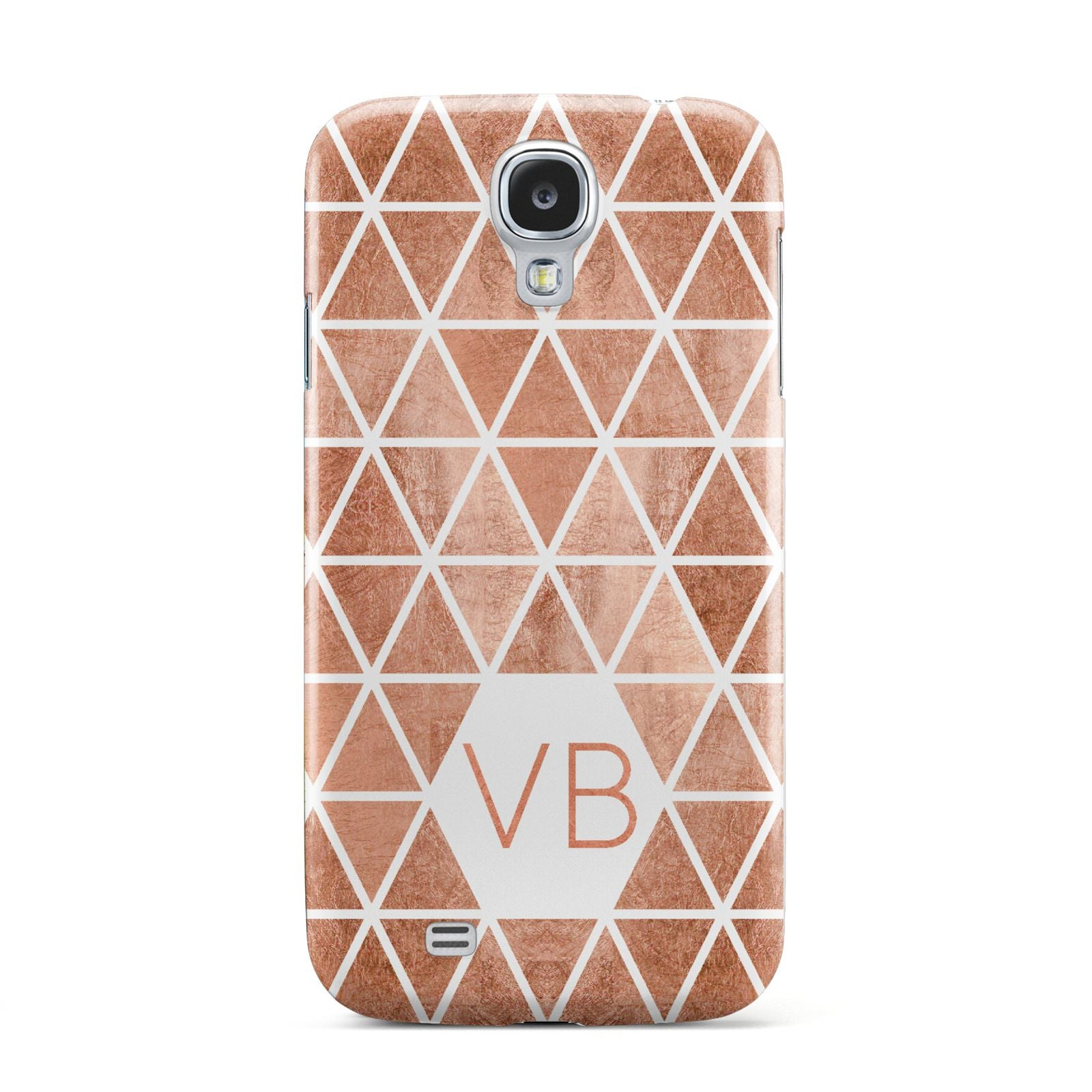 Personalised Copper Initials Samsung Galaxy S4 Case