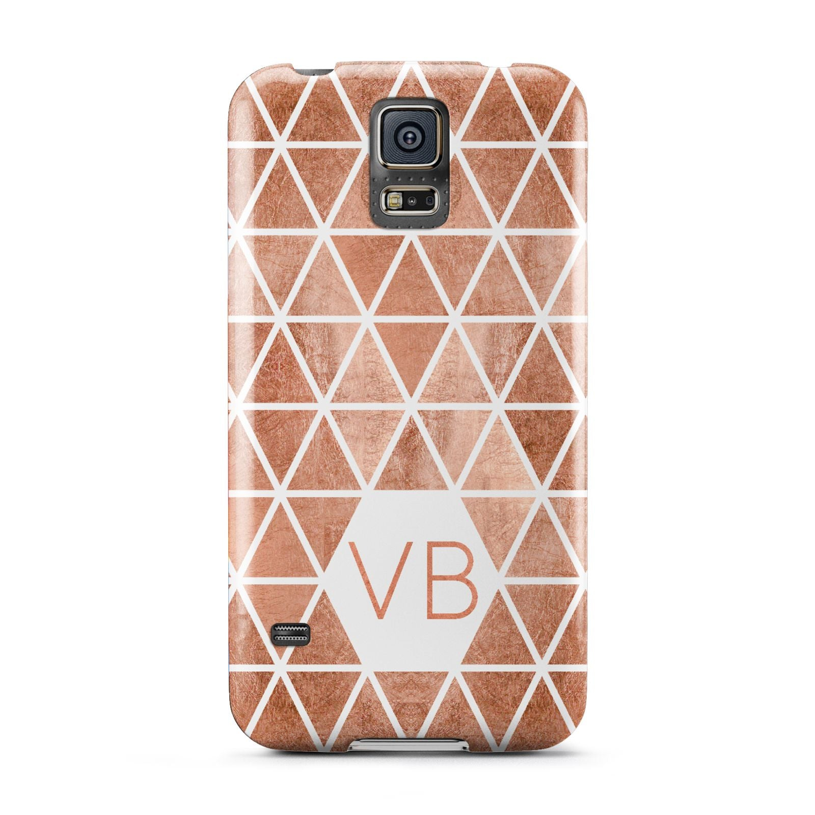 Personalised Copper Initials Samsung Galaxy S5 Case