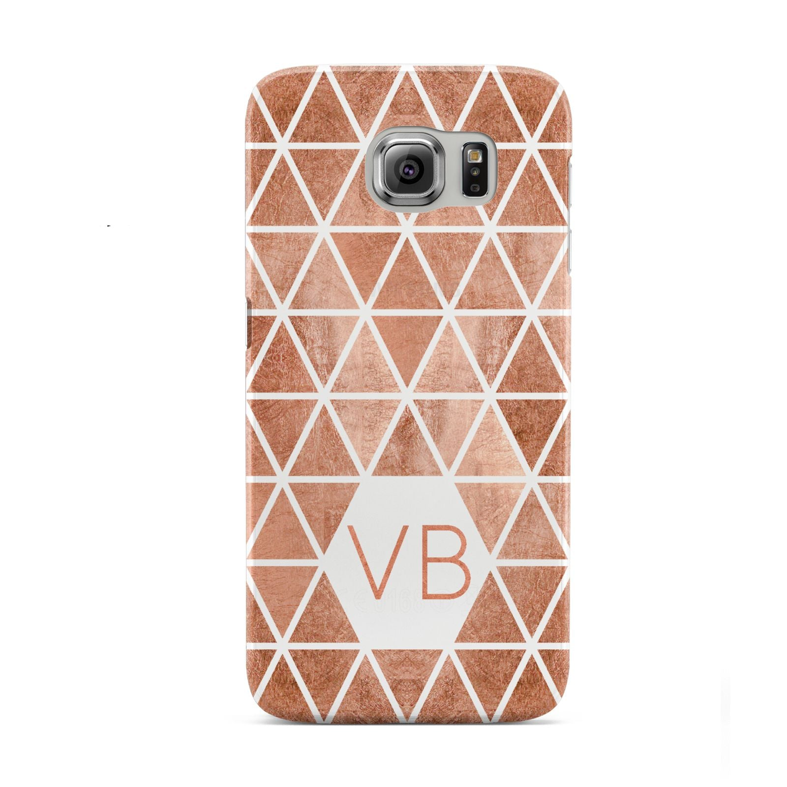Personalised Copper Initials Samsung Galaxy S6 Case