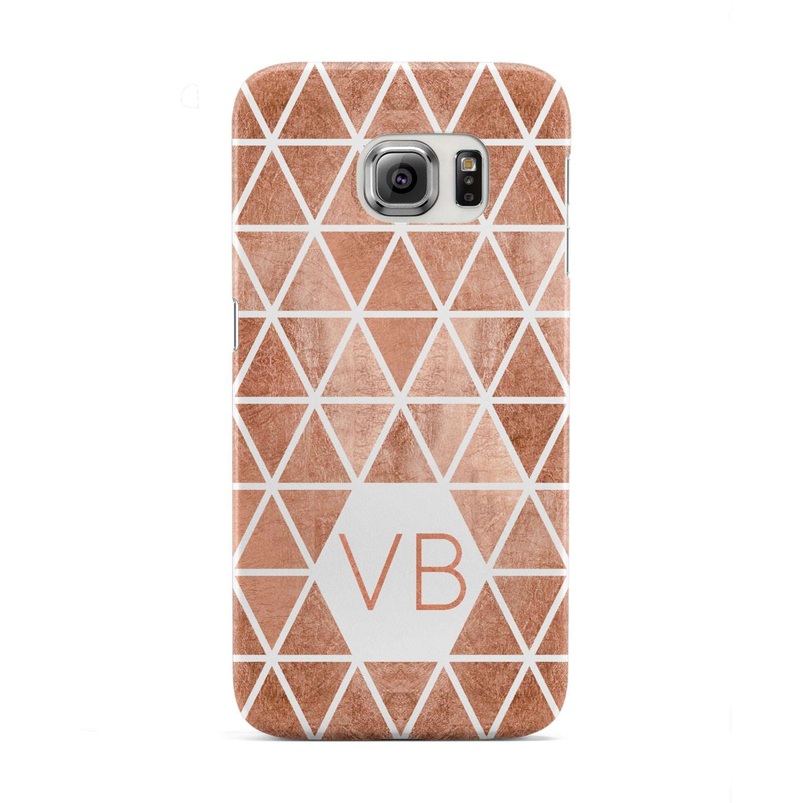 Personalised Copper Initials Samsung Galaxy S6 Edge Case