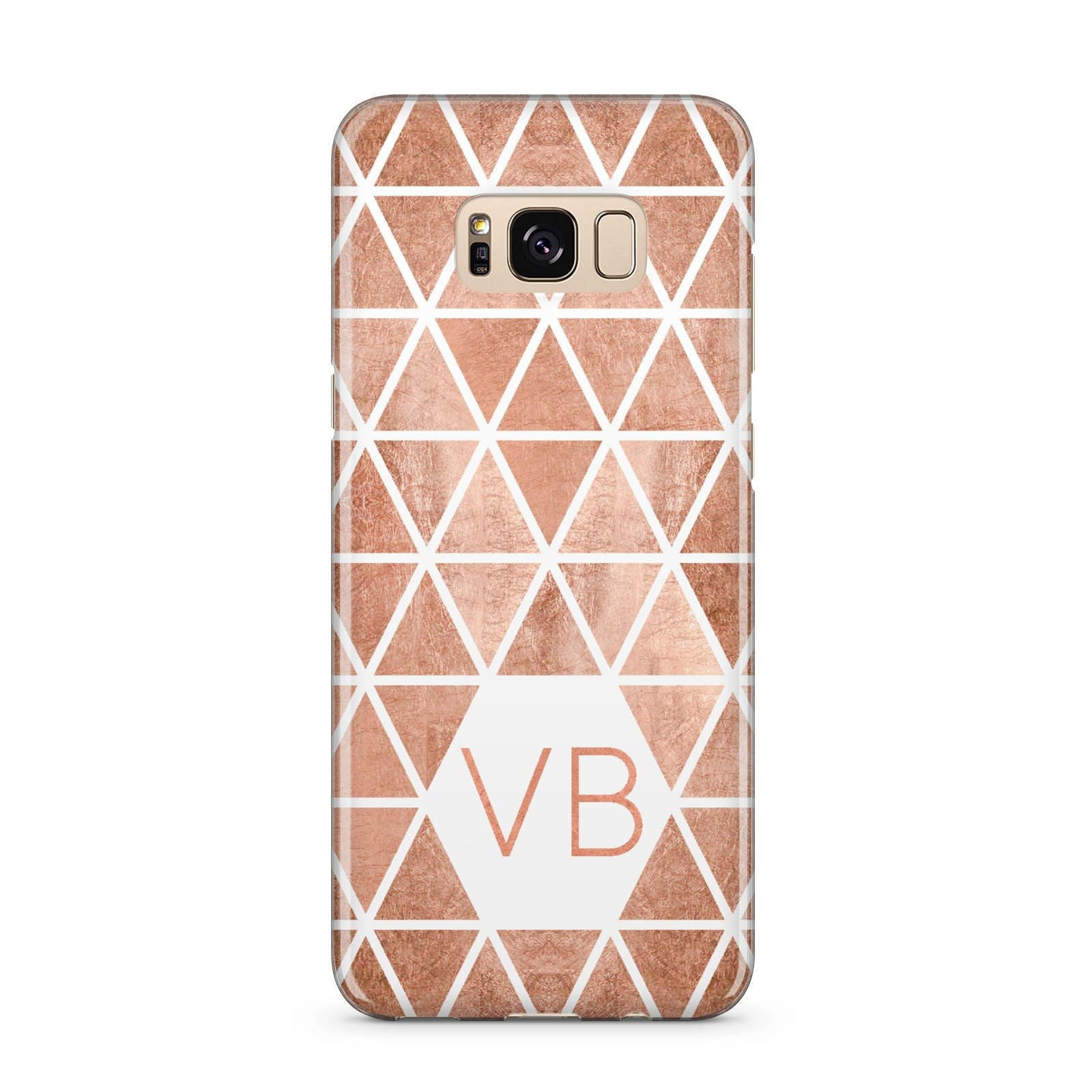 Personalised Copper Initials Samsung Galaxy S8 Plus Case