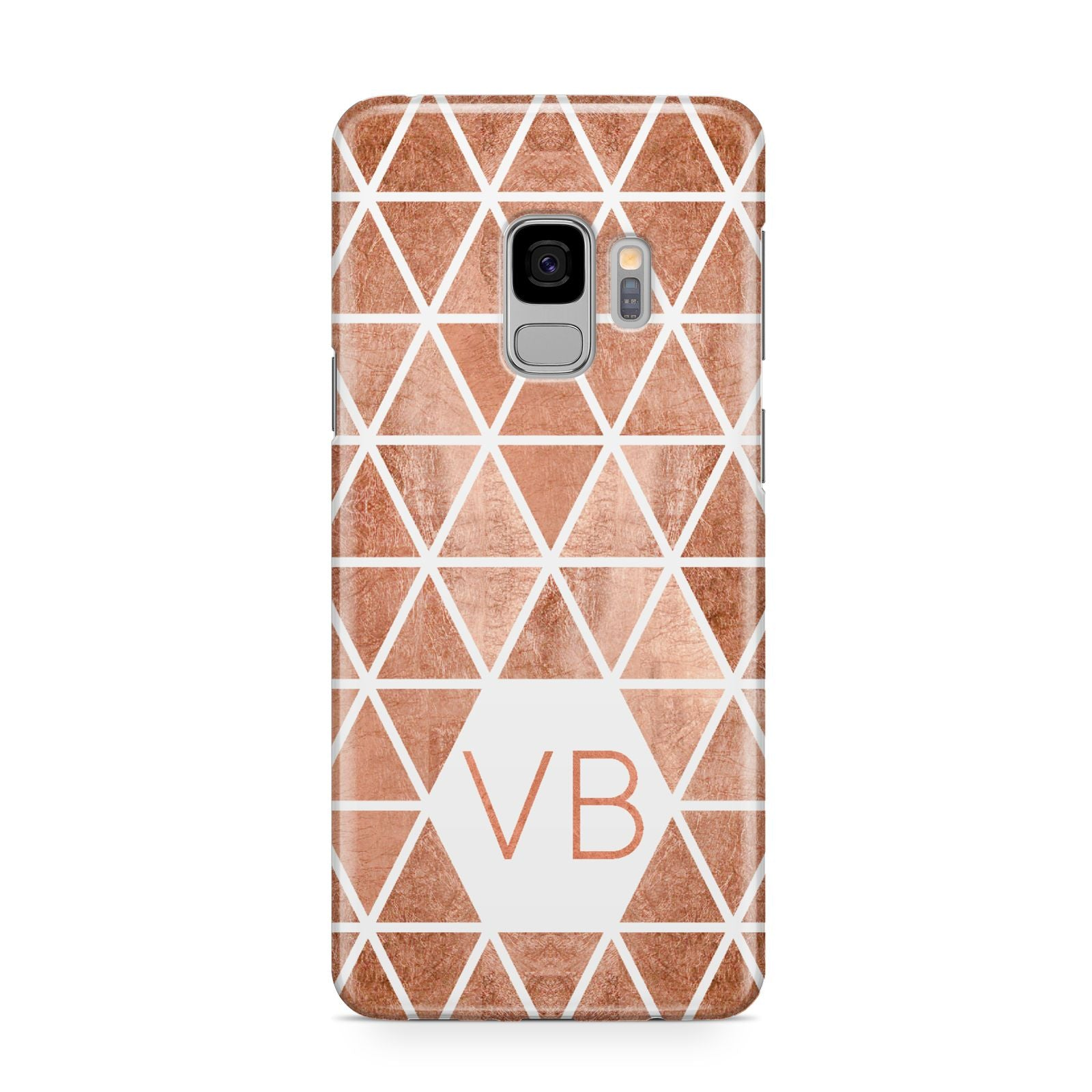Personalised Copper Initials Samsung Galaxy S9 Case