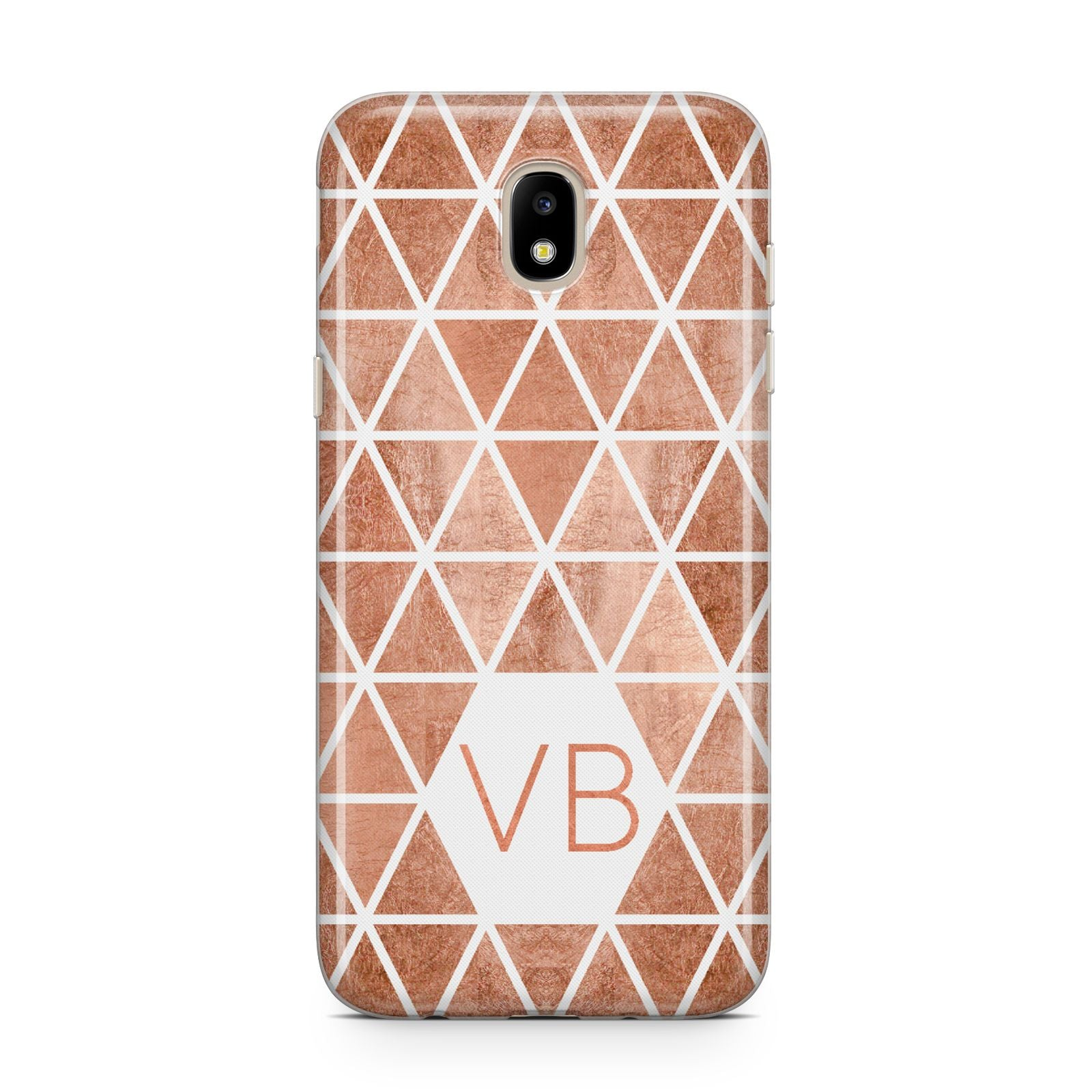 Personalised Copper Initials Samsung J5 2017 Case