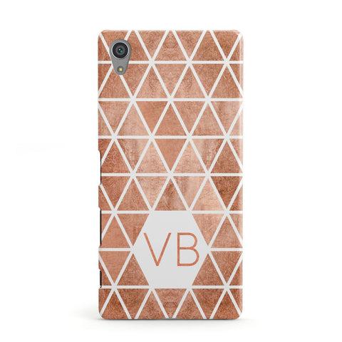 Personalised Copper Initials Sony Xperia Case