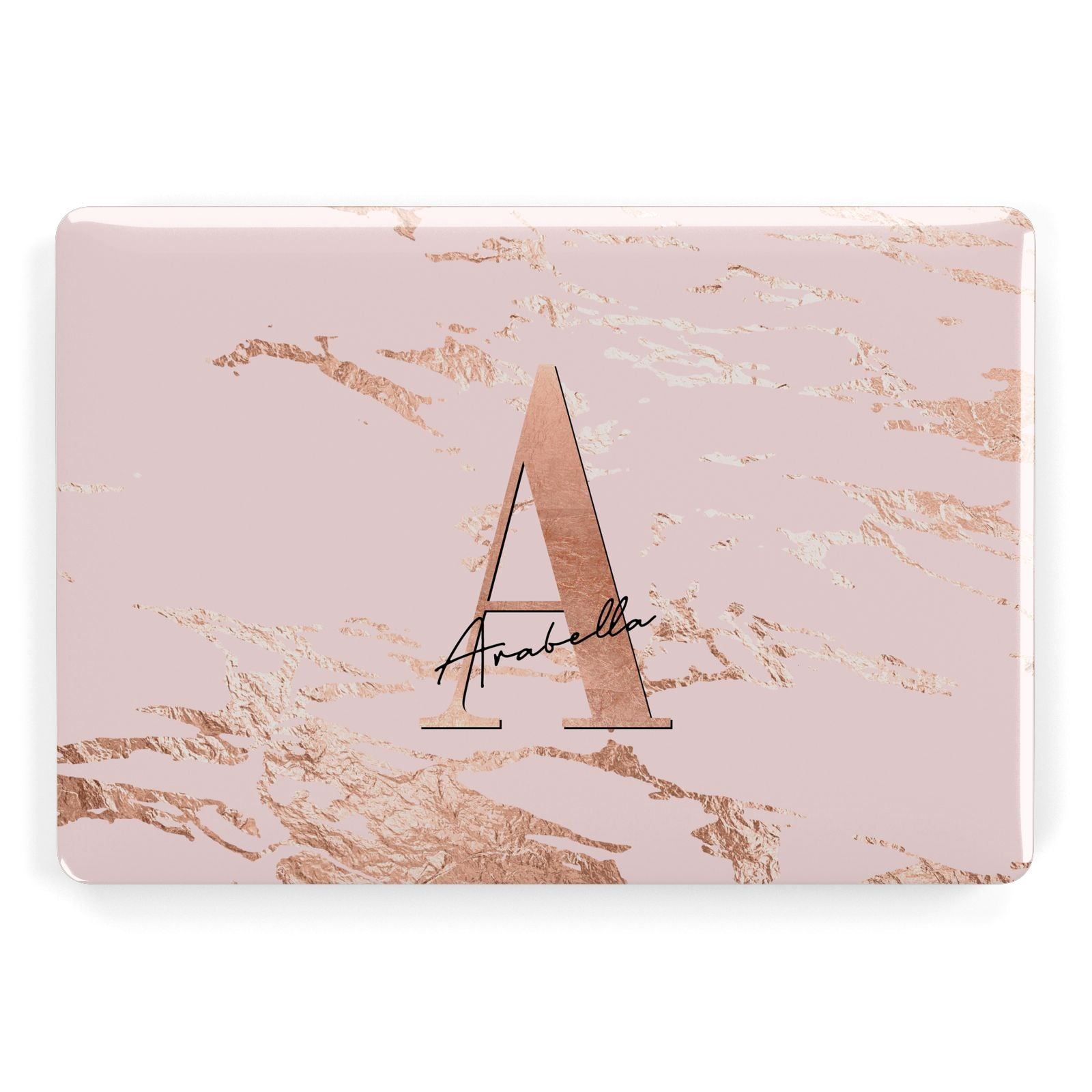 best authentic d1fdc a2690 Personalised Copper Pink Marble Macbook Case