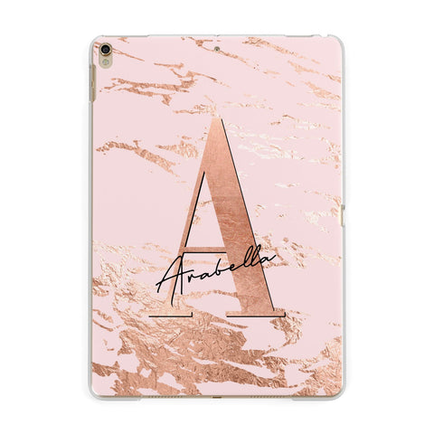 Personalised Copper Pink Marble iPad Case
