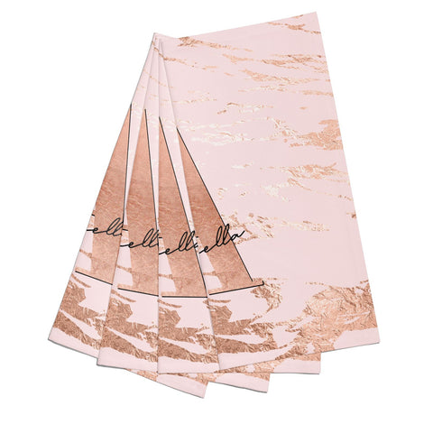 Personalised Copper Pink Marble Napkins