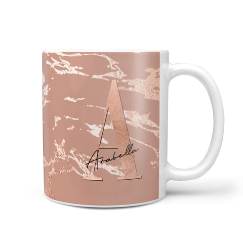 Personalised Copper Taupe Marble Mug