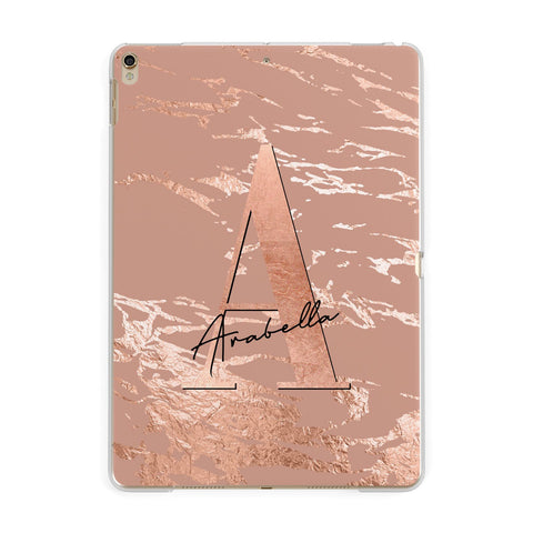 Personalised Copper Taupe Marble iPad Case