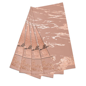 Personalised Copper Taupe Marble Cotton Napkins Set of 4