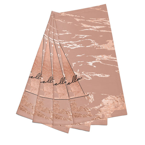 Personalised Copper Taupe Marble Napkins