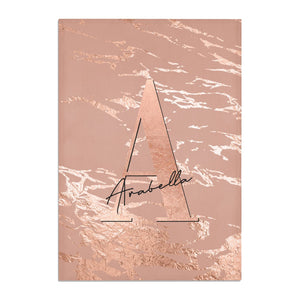Personalised Copper Taupe Marble Cotton Tea Towel