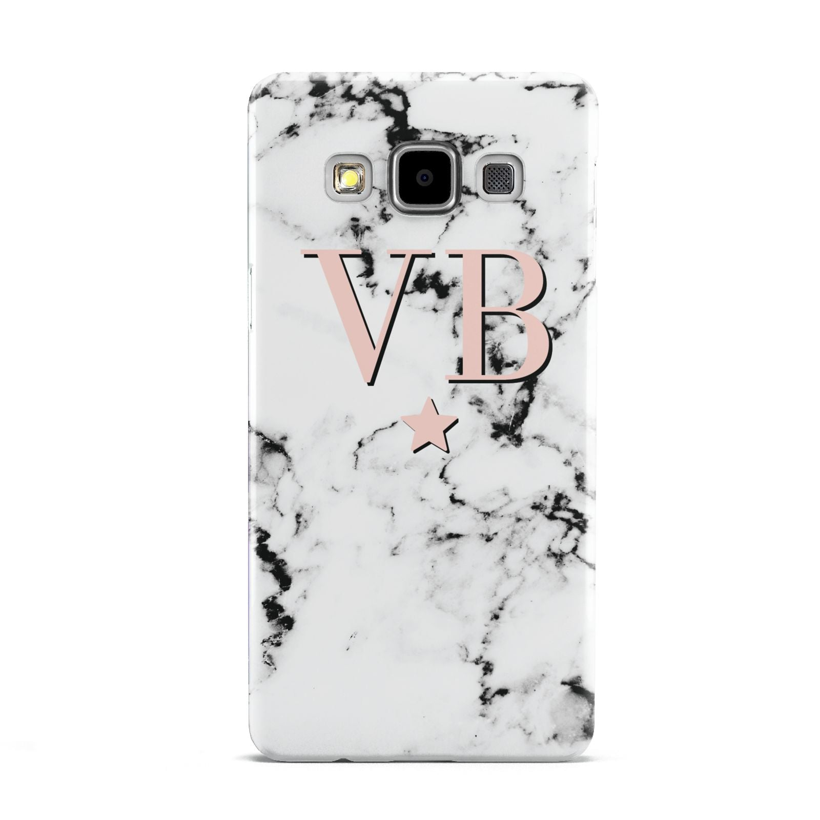 Personalised Coral Initials Star Marble Samsung Galaxy A5 Case