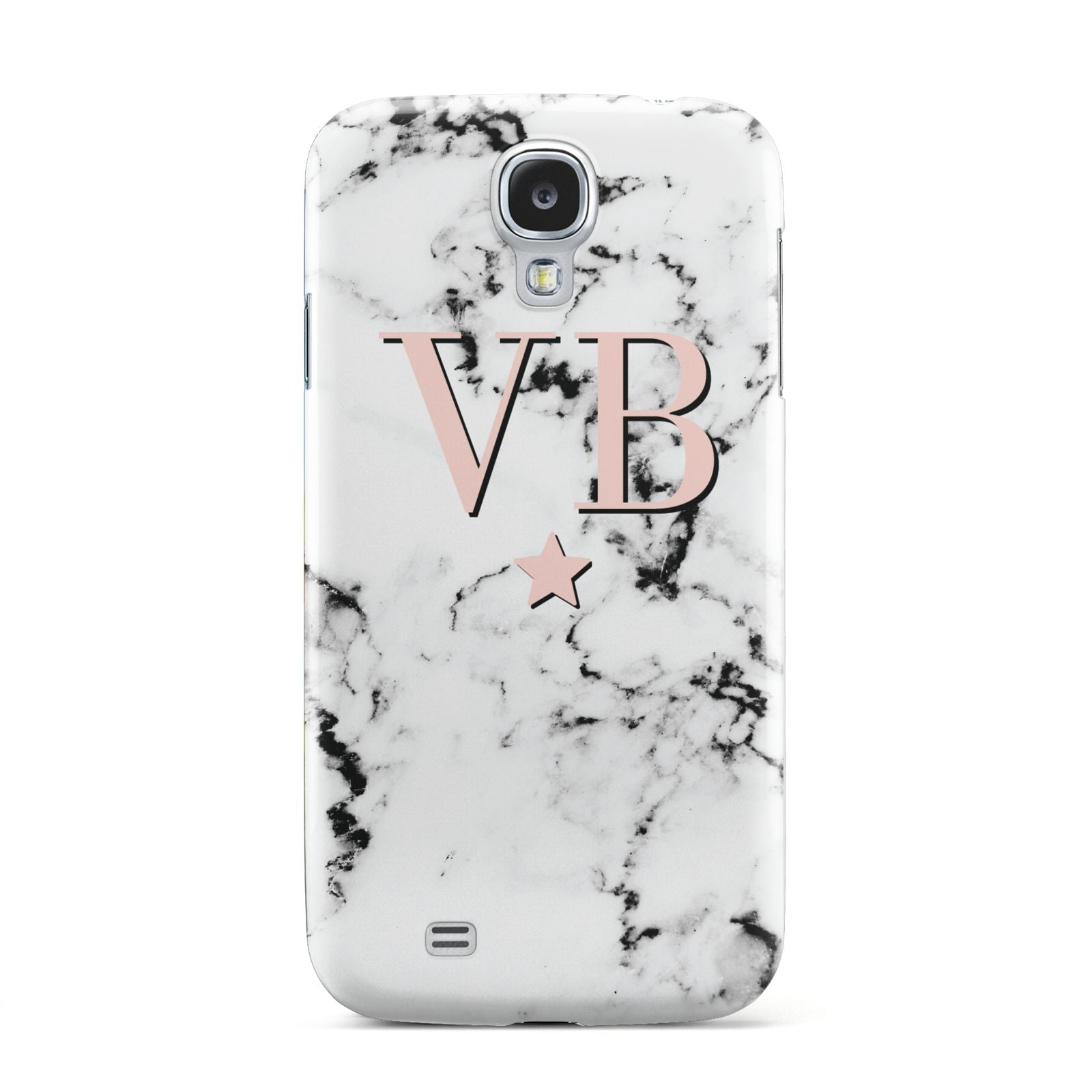 Personalised Coral Initials Star Marble Samsung Galaxy S4 Case