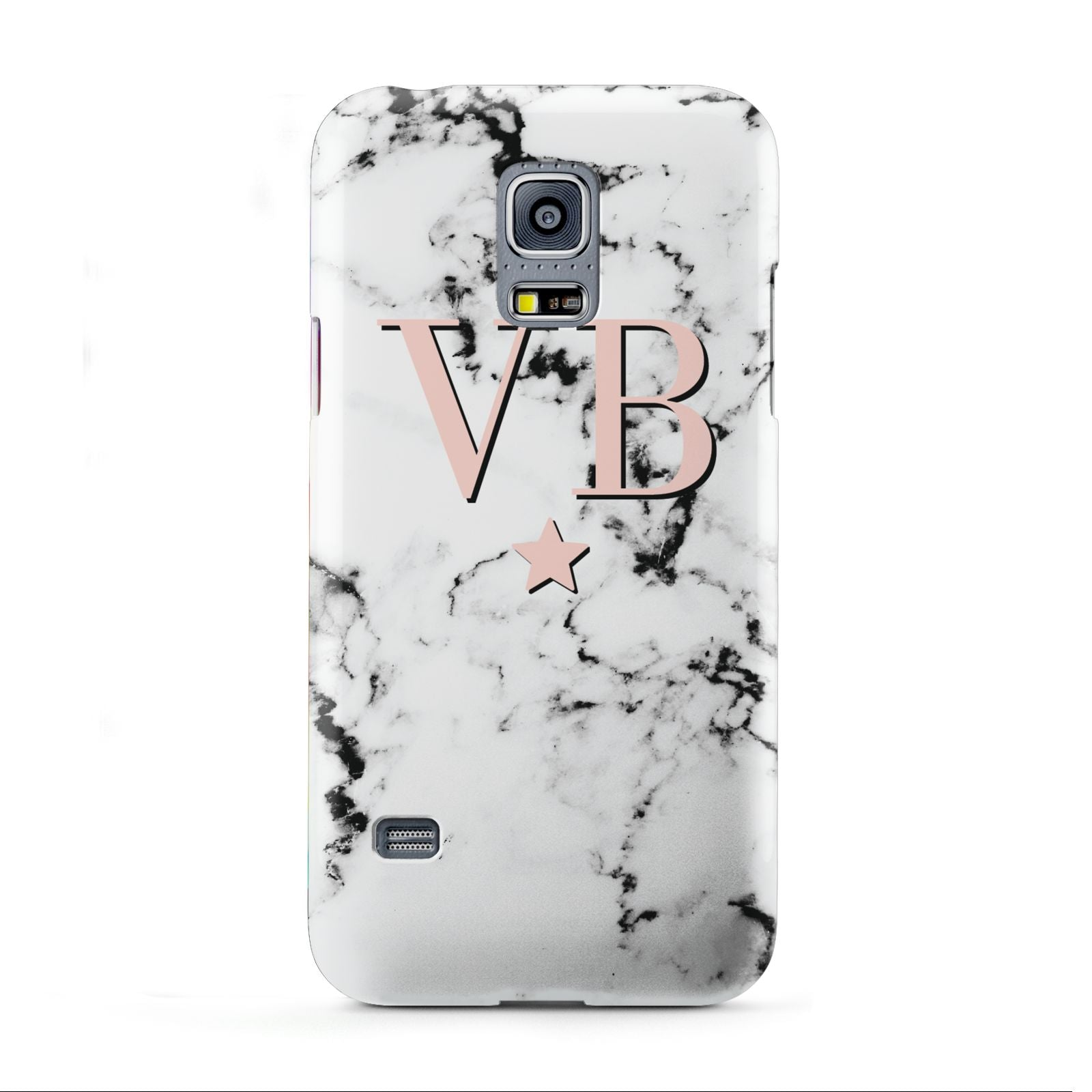 Personalised Coral Initials Star Marble Samsung Galaxy S5 Mini Case