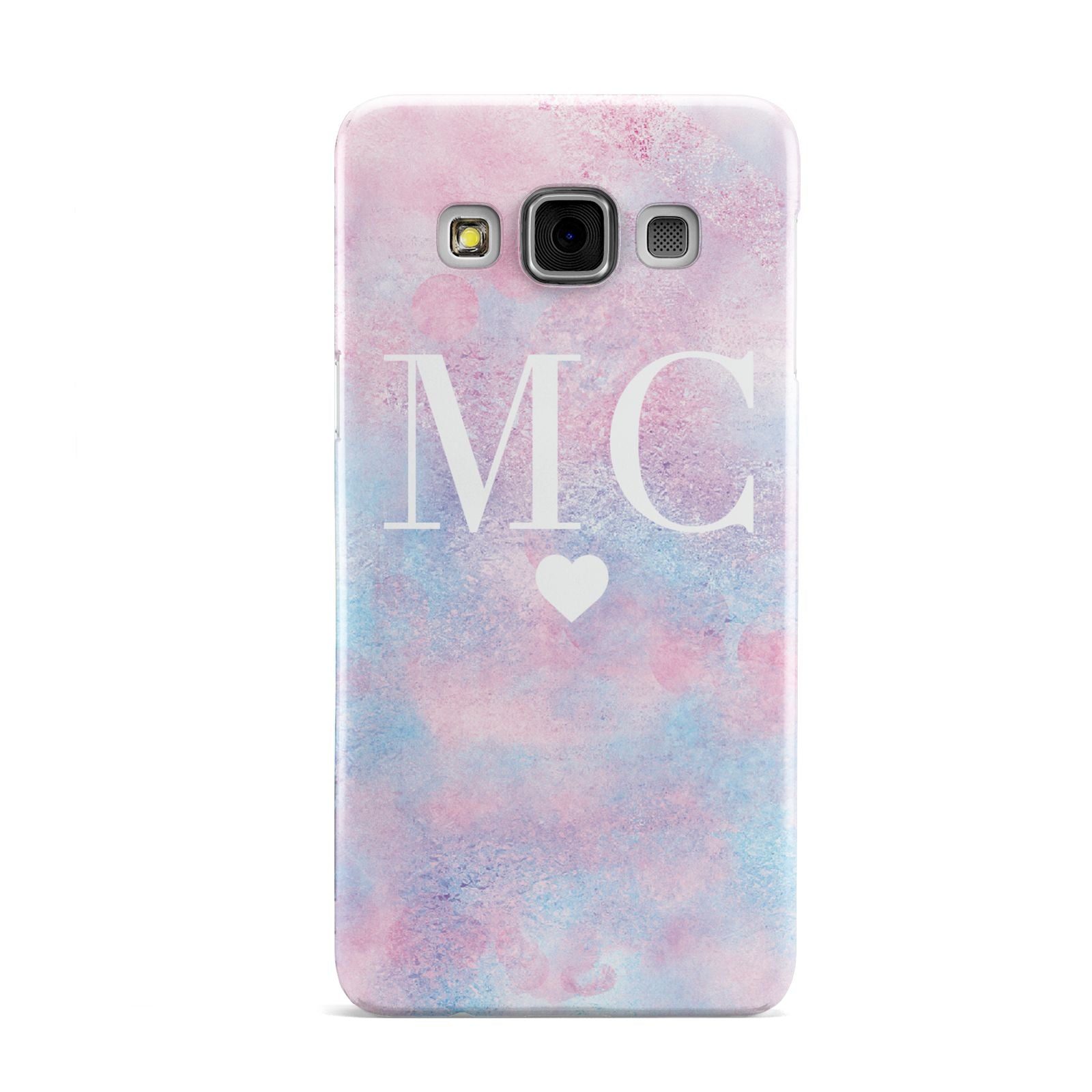 Personalised Cotton Candy Marble Initials Samsung Galaxy A3 Case
