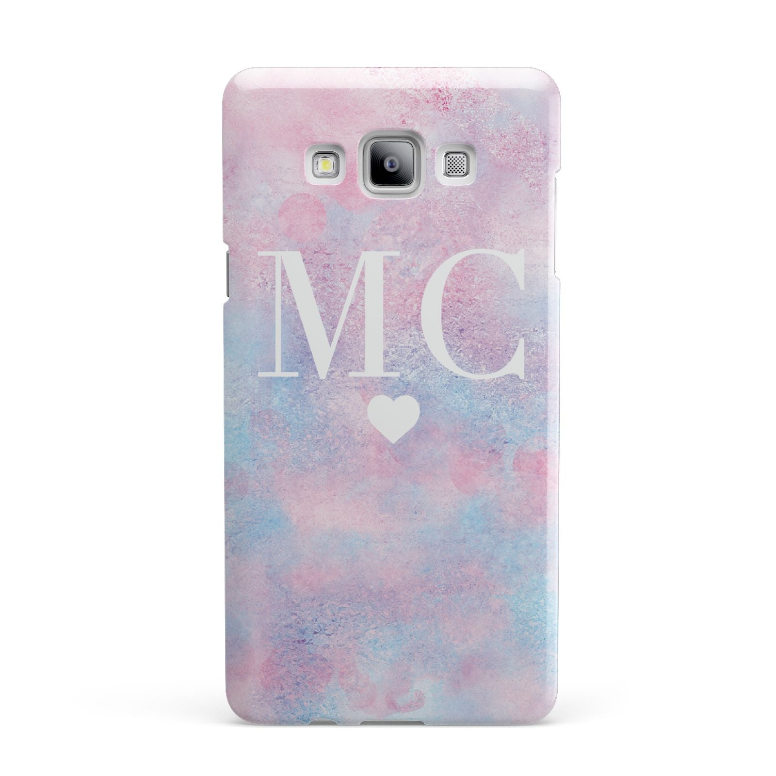 Personalised Cotton Candy Marble Initials Samsung Galaxy A7 2015 Case