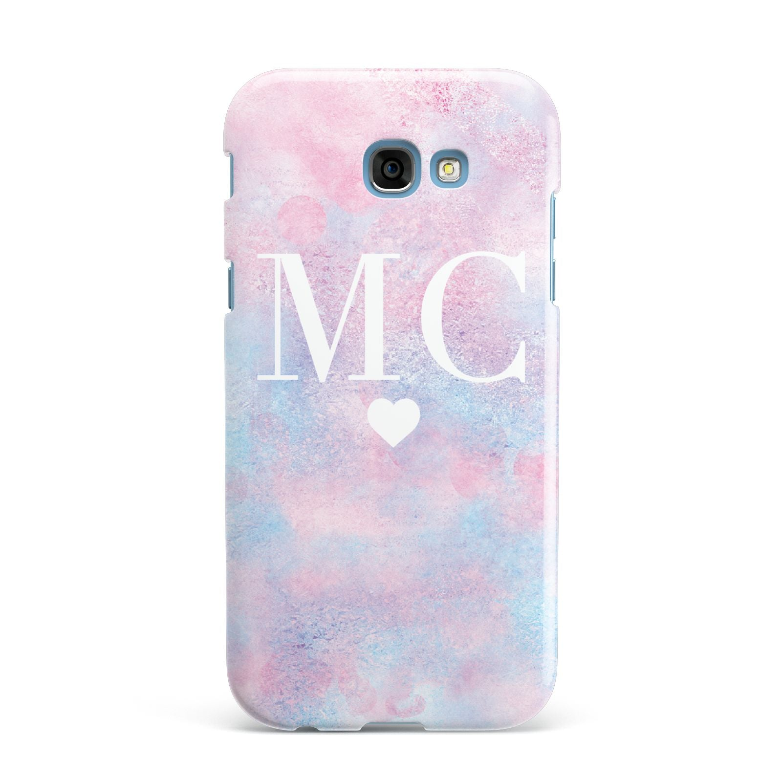 Personalised Cotton Candy Marble Initials Samsung Galaxy A7 2017 Case