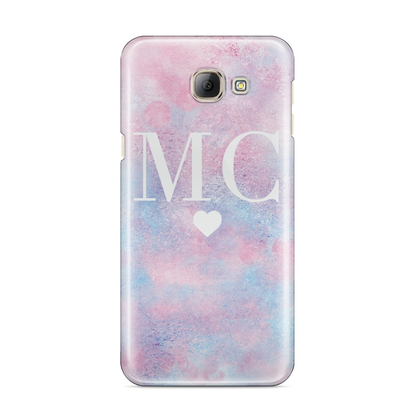 Personalised Cotton Candy Marble Initials Samsung Galaxy A8 2016 Case
