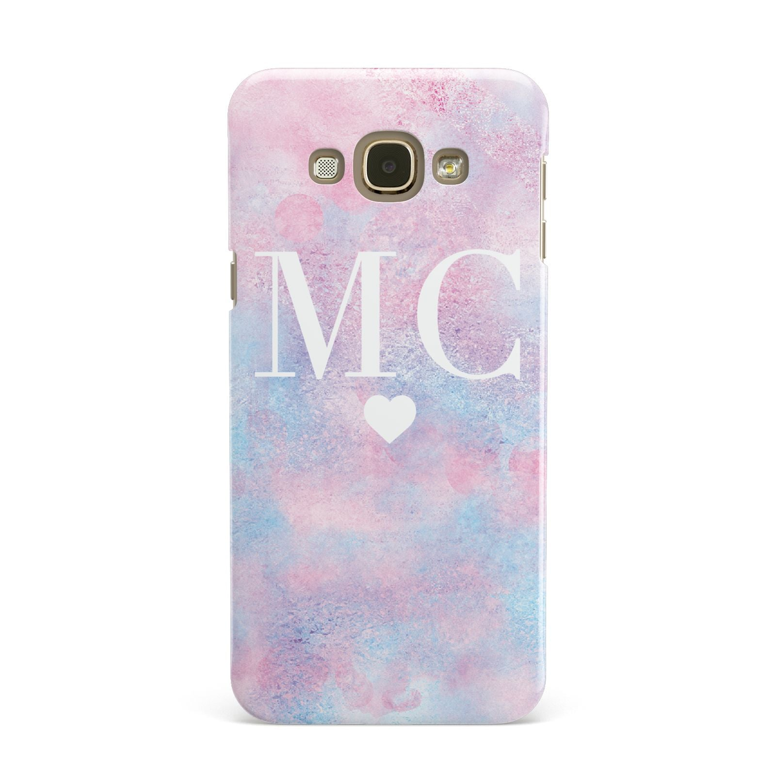 Personalised Cotton Candy Marble Initials Samsung Galaxy A8 Case