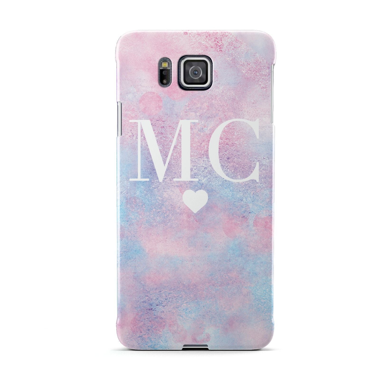 Personalised Cotton Candy Marble Initials Samsung Galaxy Alpha Case