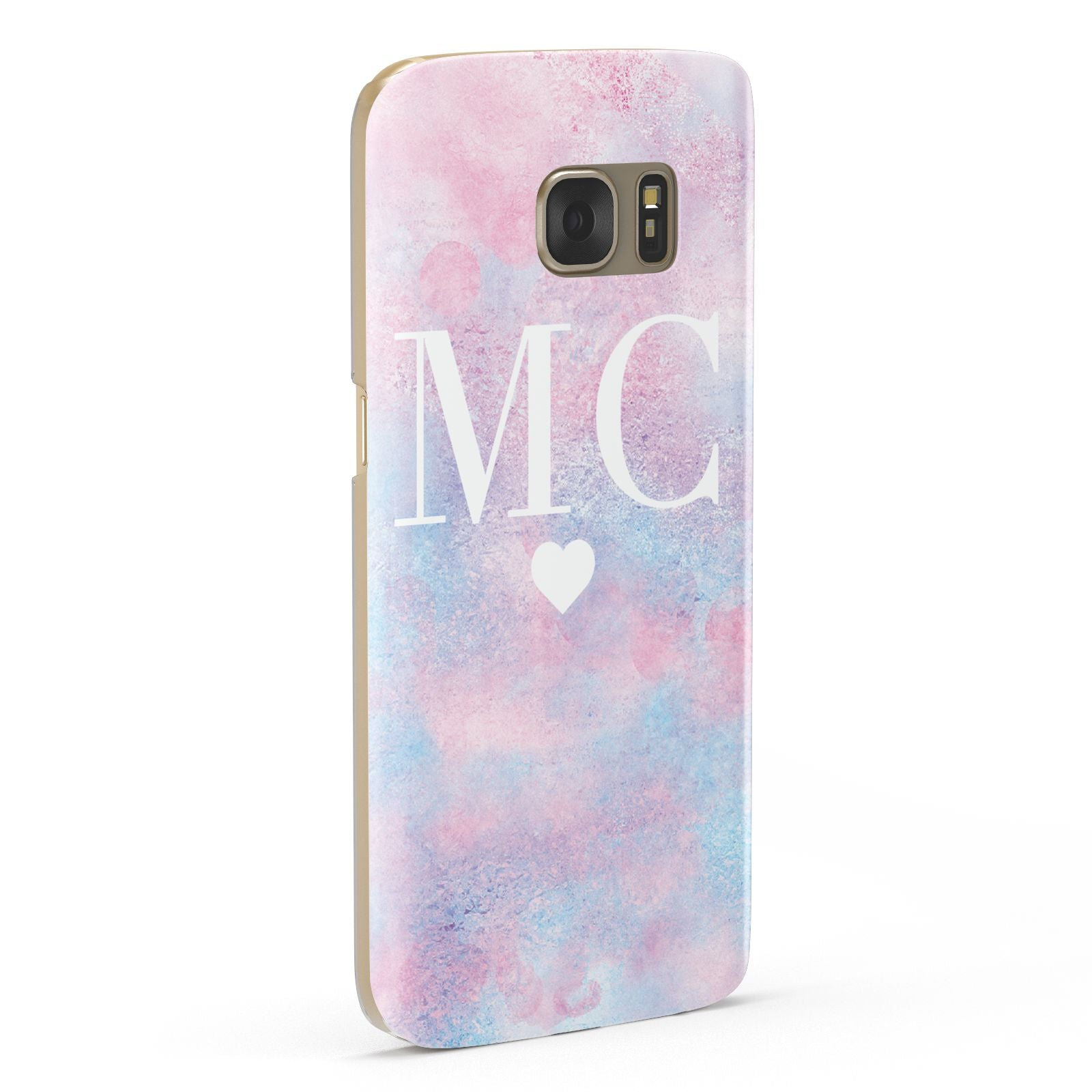 Personalised Cotton Candy Marble Initials Samsung Galaxy Case Fourty Five Degrees