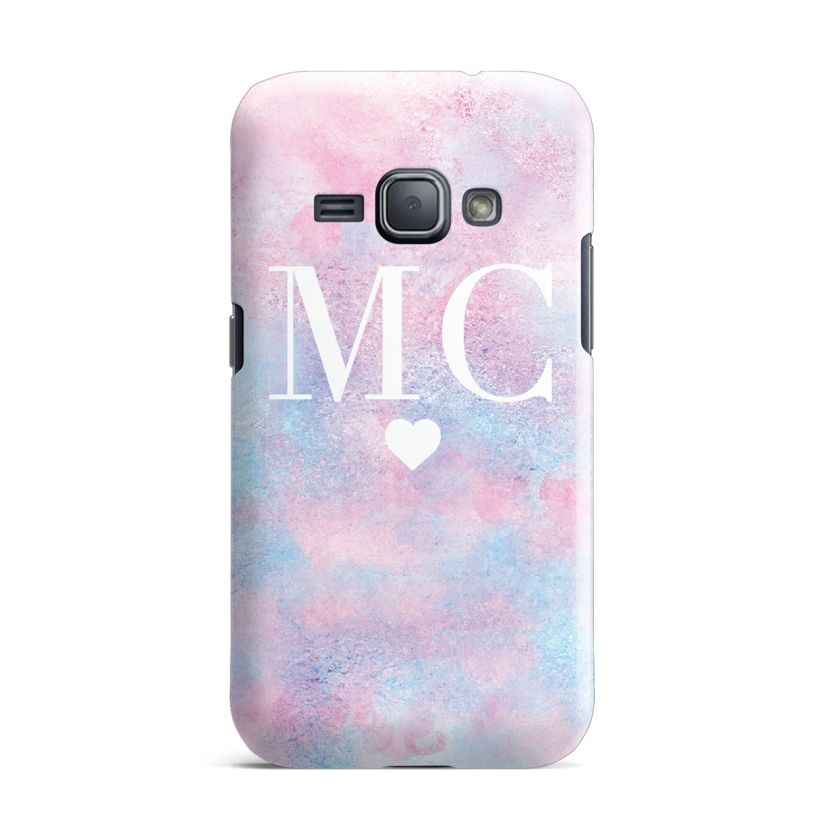 Personalised Cotton Candy Marble Initials Samsung Galaxy J1 2016 Case