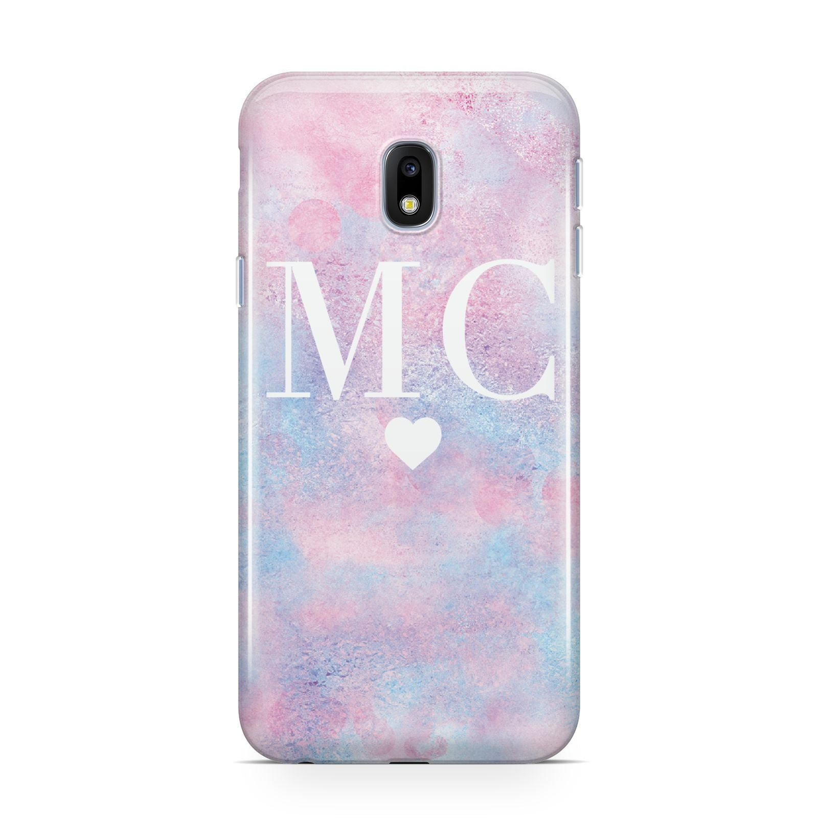 Personalised Cotton Candy Marble Initials Samsung Galaxy J3 2017 Case