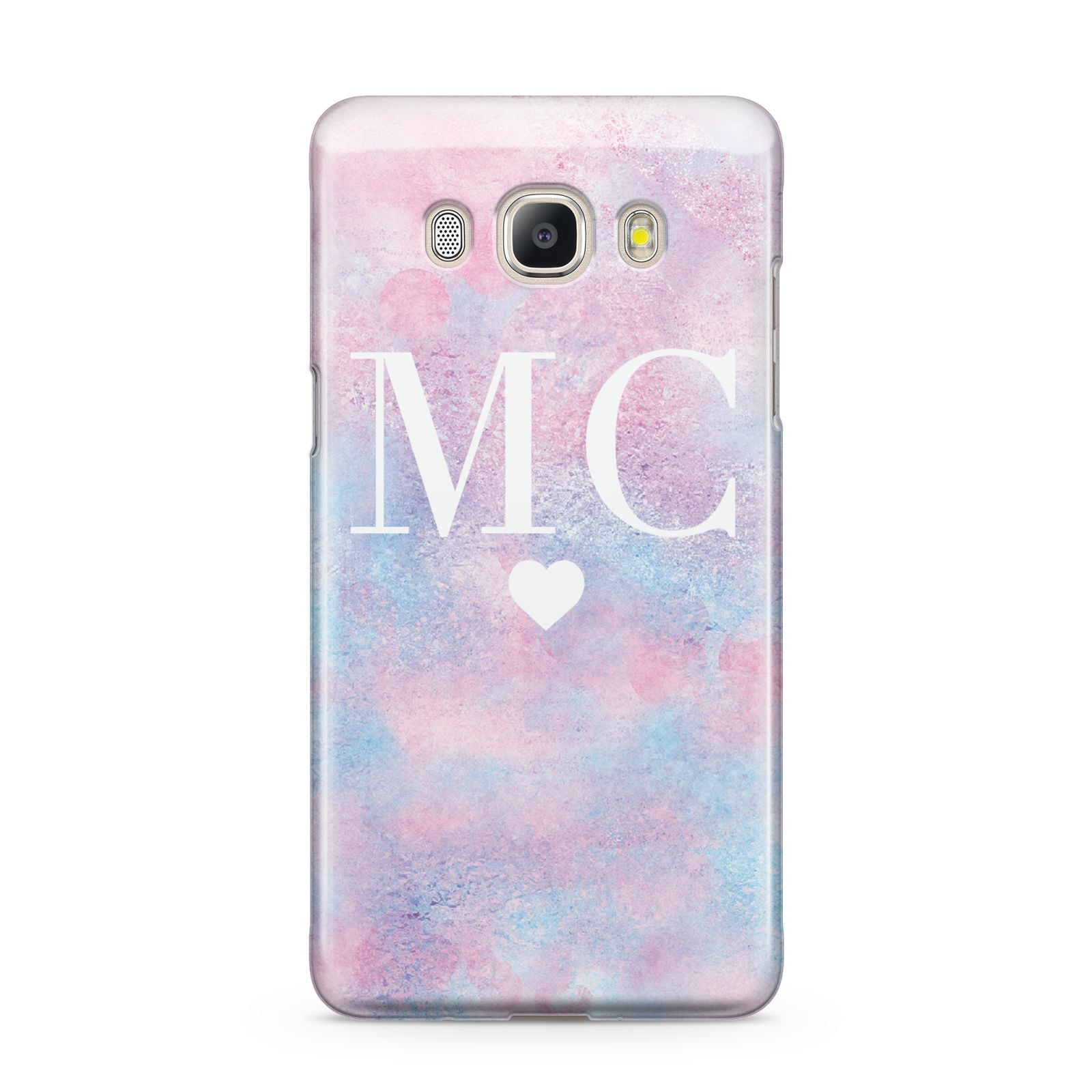Personalised Cotton Candy Marble Initials Samsung Galaxy J5 2016 Case