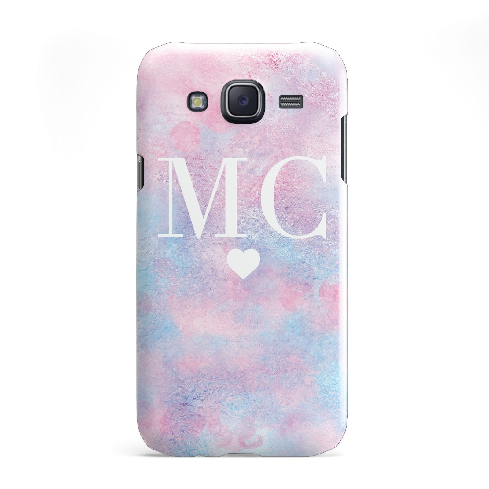 Personalised Cotton Candy Marble Initials Samsung Galaxy J5 Case
