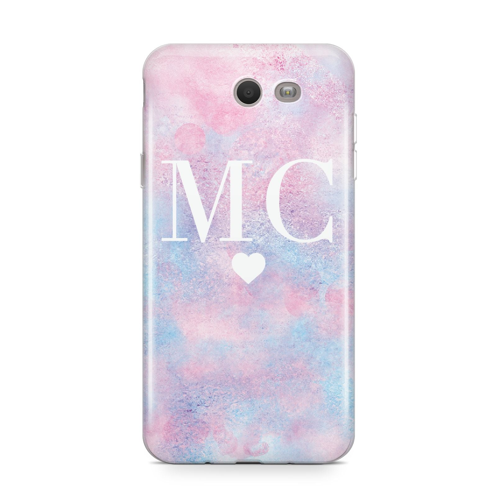 Personalised Cotton Candy Marble Initials Samsung Galaxy J7 2017 Case