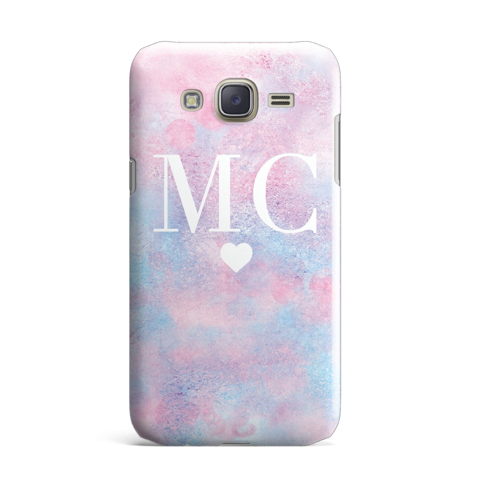Personalised Cotton Candy Marble Initials Samsung Galaxy J7 Case