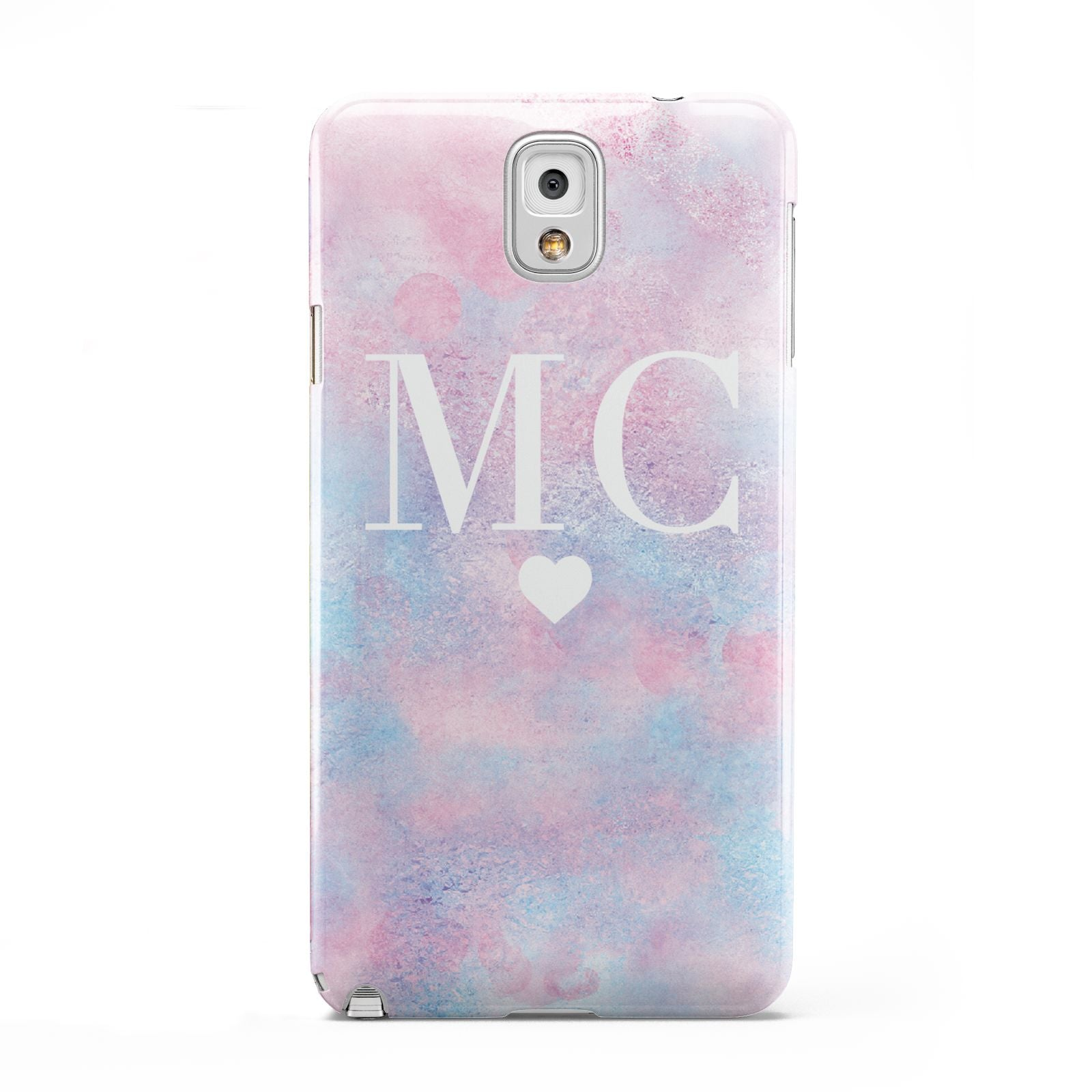 Personalised Cotton Candy Marble Initials Samsung Galaxy Note 3 Case