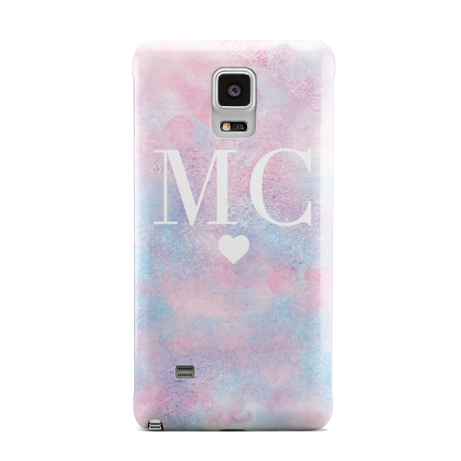 Personalised Cotton Candy Marble Initials Samsung Galaxy Note 4 Case