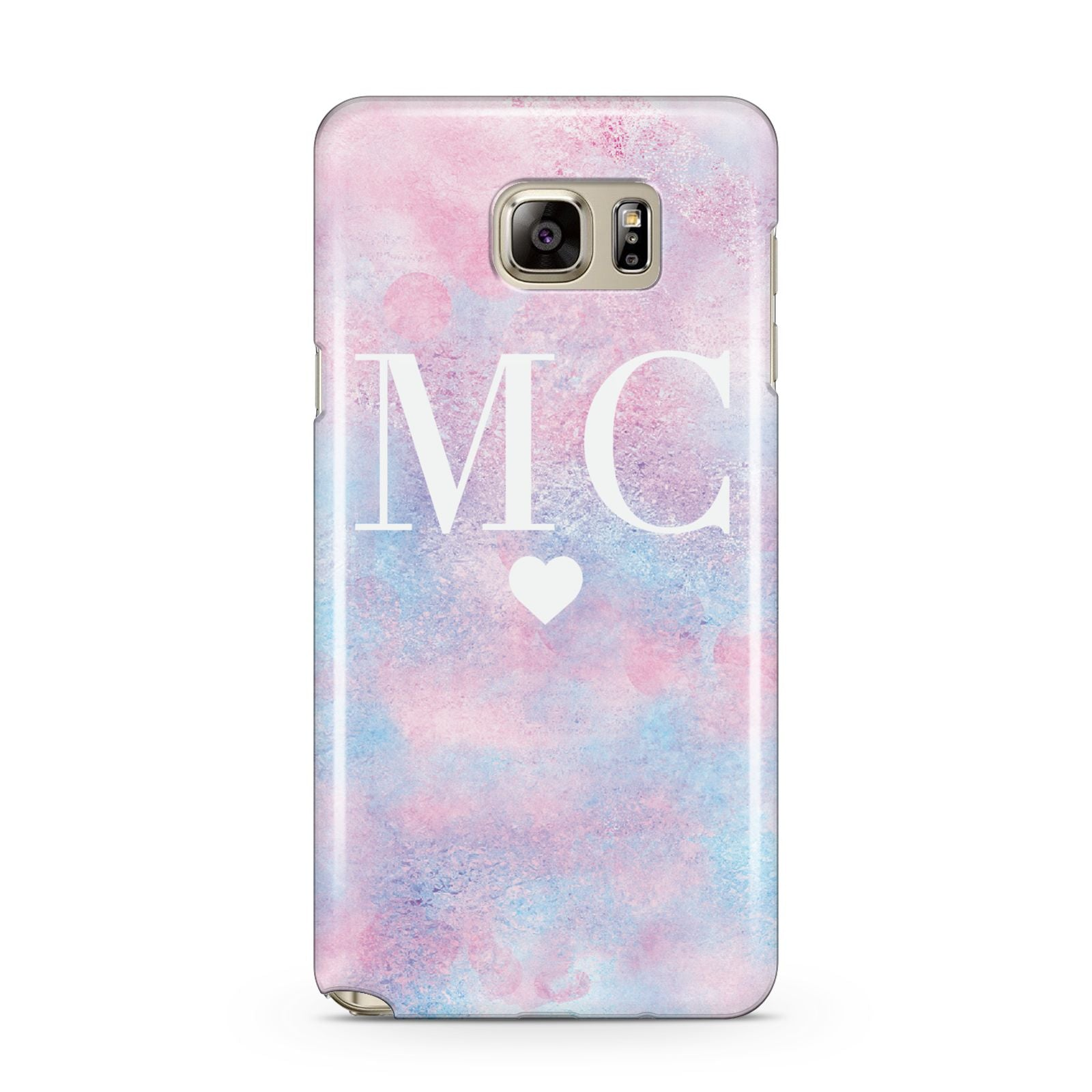 Personalised Cotton Candy Marble Initials Samsung Galaxy Note 5 Case