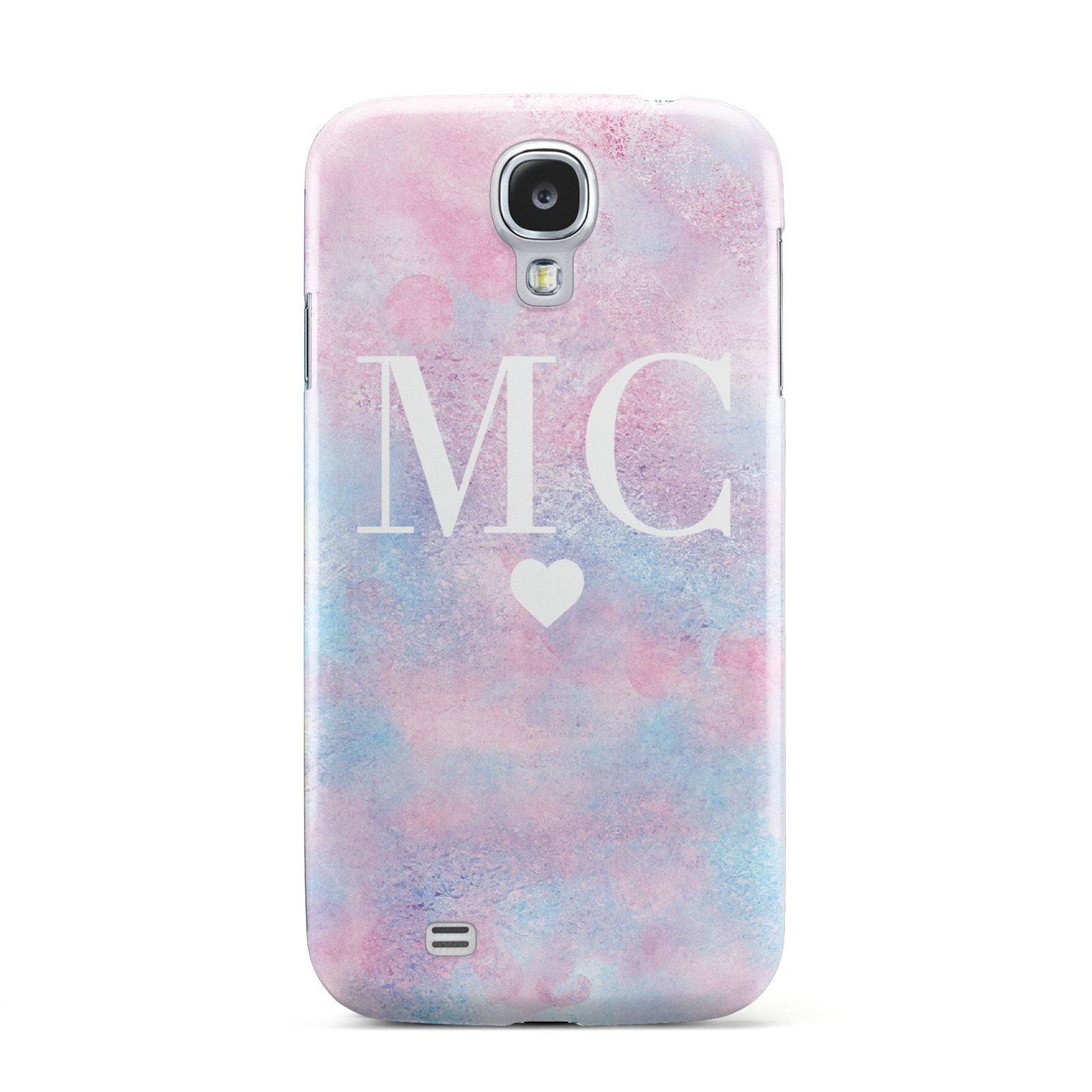 Personalised Cotton Candy Marble Initials Samsung Galaxy S4 Case