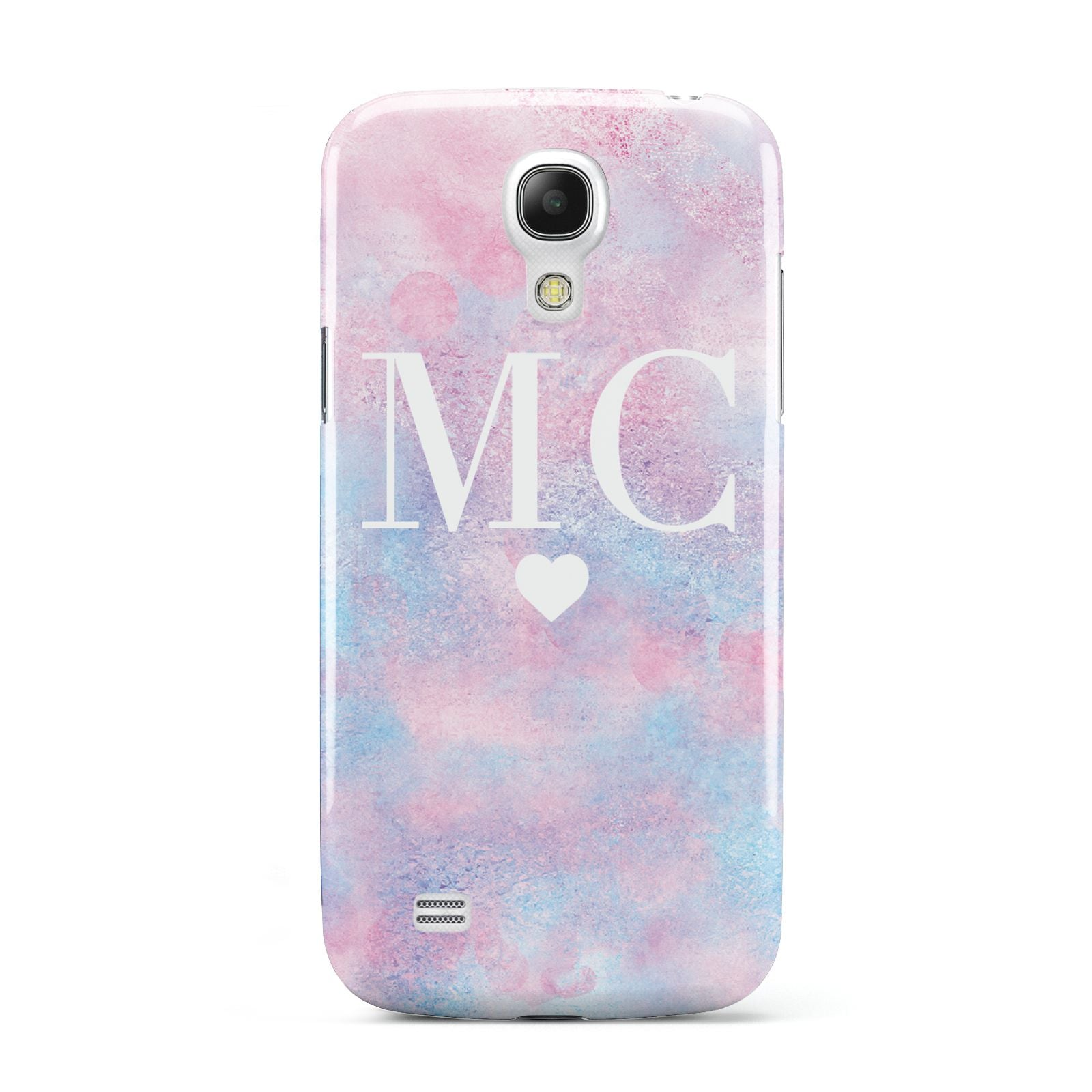 Personalised Cotton Candy Marble Initials Samsung Galaxy S4 Mini Case