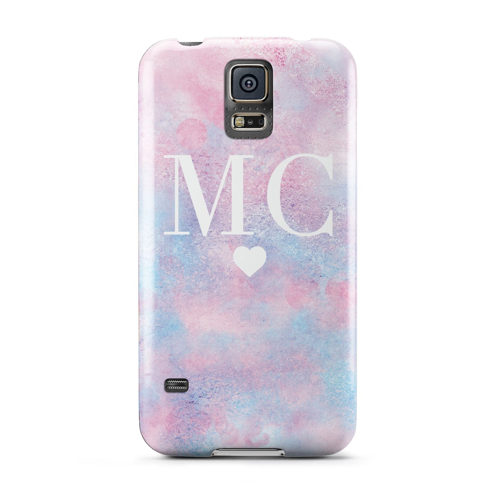 Personalised Cotton Candy Marble Initials Samsung Galaxy S5 Case