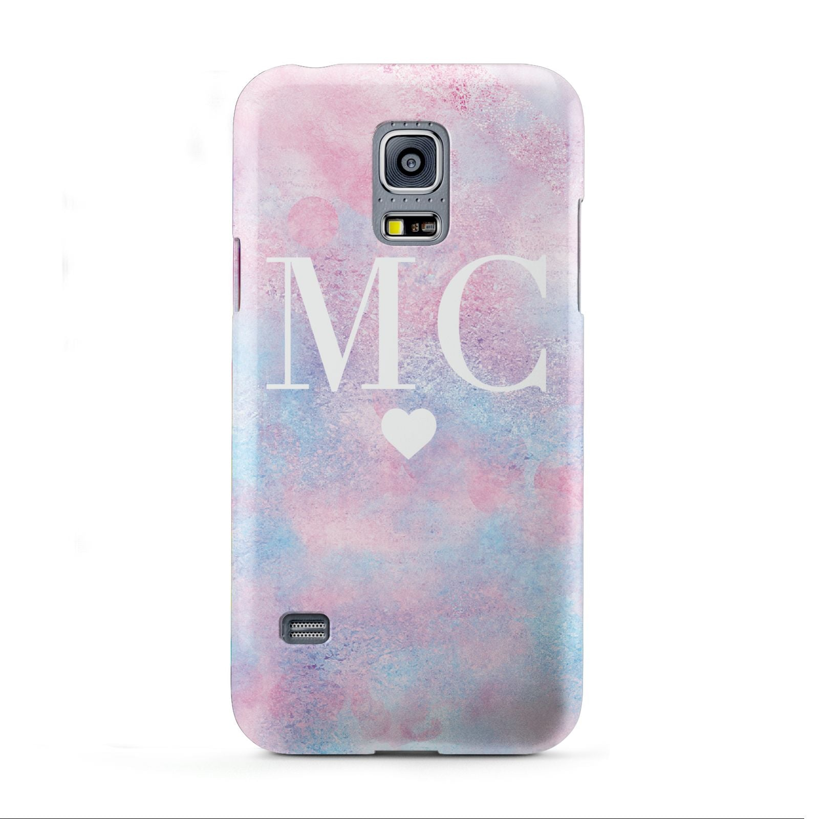 Personalised Cotton Candy Marble Initials Samsung Galaxy S5 Mini Case