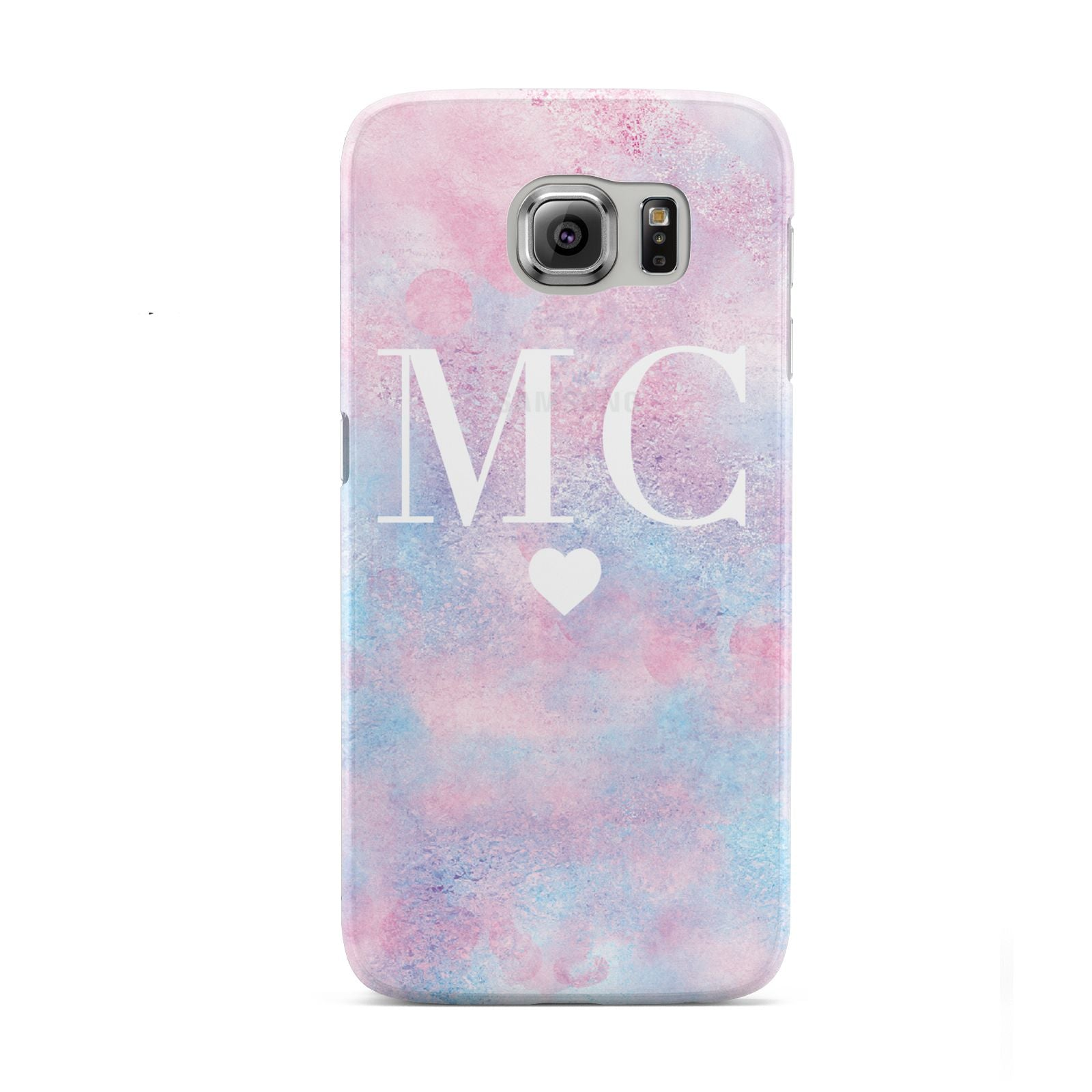 Personalised Cotton Candy Marble Initials Samsung Galaxy S6 Case