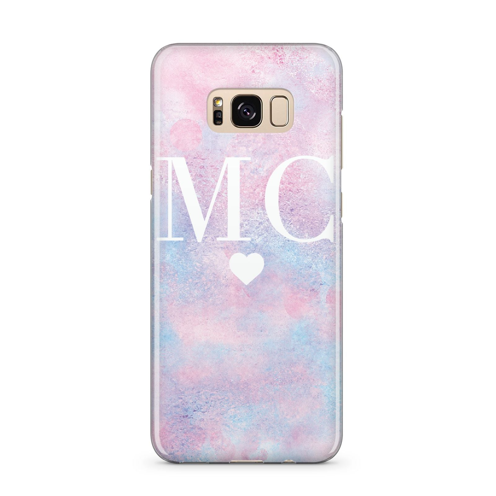 Personalised Cotton Candy Marble Initials Samsung Galaxy S8 Plus Case