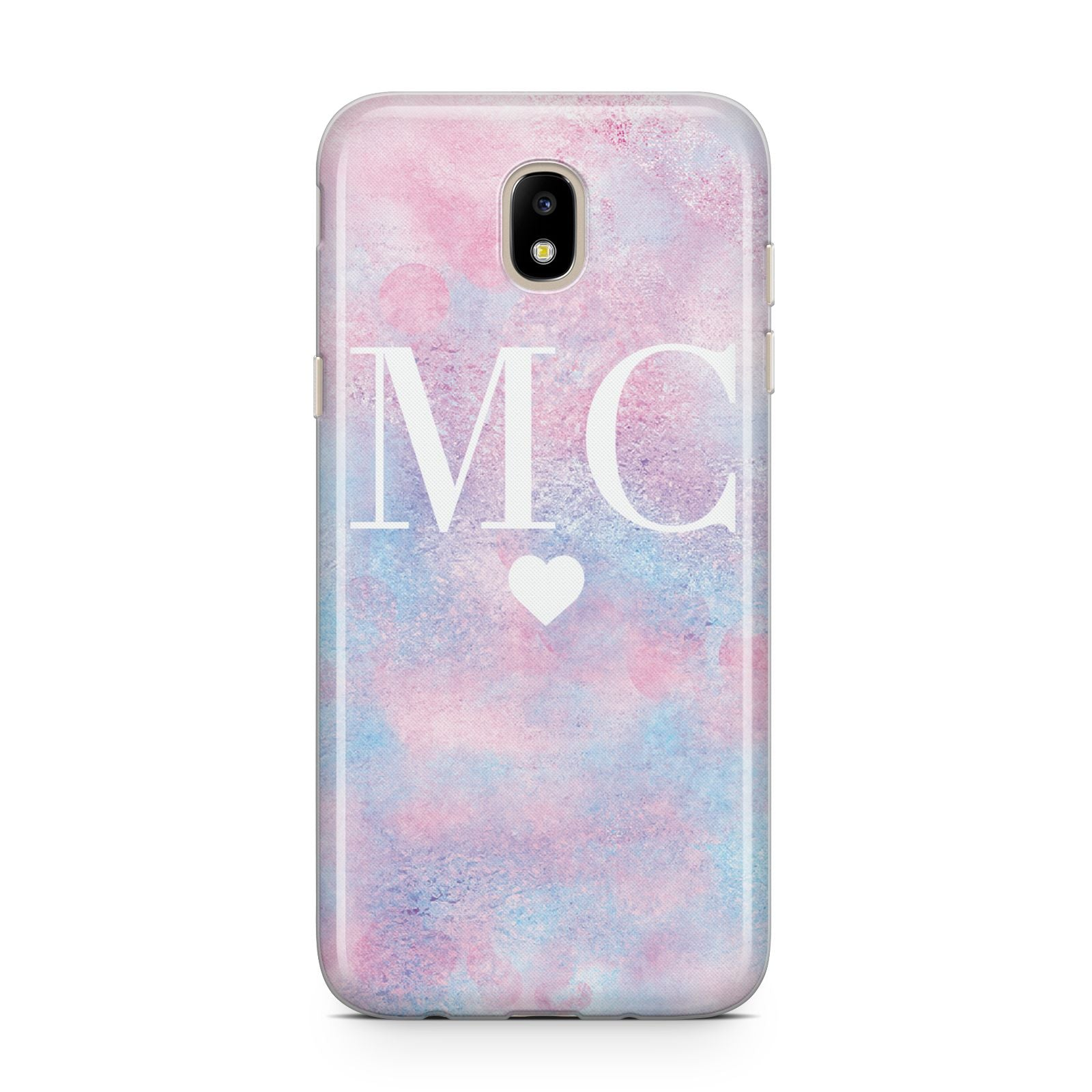 Personalised Cotton Candy Marble Initials Samsung J5 2017 Case