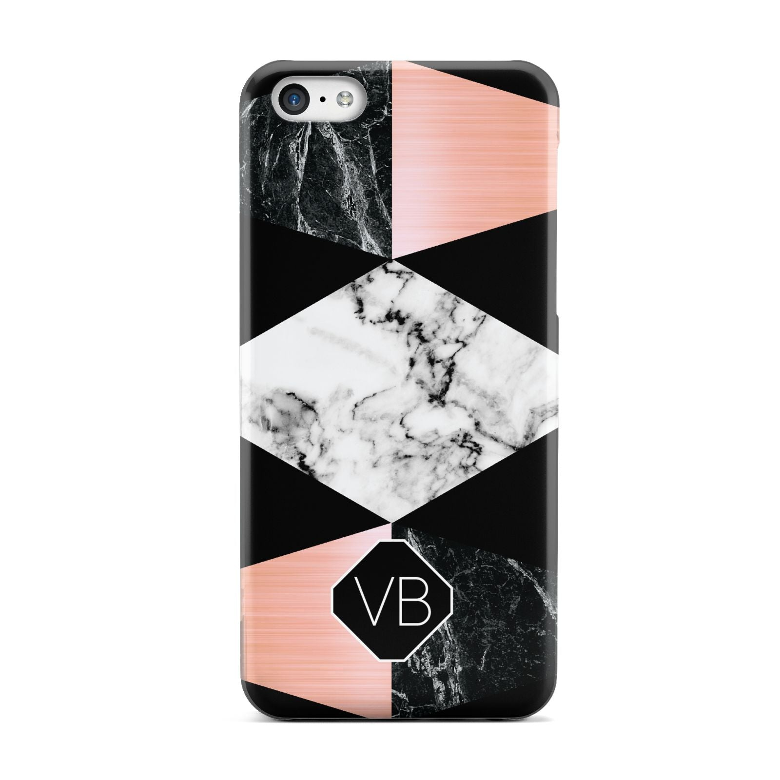 Personalised Custom Marble Initials Apple iPhone 5c Case
